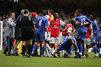 Photo: Rich Eaton.<br /> <br /> Chelsea v Arsenal. Carling Cup Final. 25/02/2007. Chelsea and Arsenal players brawl during the second half
