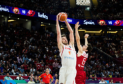 Pau Gasol of Spain vs Cedi Osman of Turkey during basketball match between National Teams of Spain and Turkey at Day 11 in Round of 16 of the FIBA EuroBasket 2017 at Sinan Erdem Dome in Istanbul, Turkey on September 10, 2017. Photo by Vid Ponikvar / Sportida