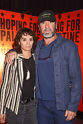 """Eric Cantona and Rachida Brakni at """"Hoping For Palestine"""" Benefit Concert For Palestinian Refugee Children held at The Roundhouse, Chalk Farm Road, England. 04 June 2018."""