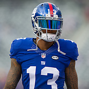 Oct 25, 2015; East Rutherford, NJ, USA; New York Giants wide receiver Odell Beckham (13) at MetLife Stadium. Mandatory Credit: William Hauser-USA TODAY Sports