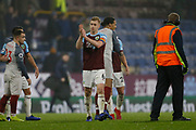 Disappointed Burnley's Ben Mee applauds the fans at full time during the Premier League match between Burnley and Liverpool at Turf Moor, Burnley, England on 5 December 2018.