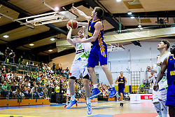 Zoran Dragic of Slovenia vs Oleksandr Mishula of Ukraine during friendly basketball match between National teams of Slovenia and Ukraine at day 3 of Adecco Cup 2014, on July 26, 2014 in Rogaska Slatina, Slovenia. Photo by Vid Ponikvar / Sportida.com