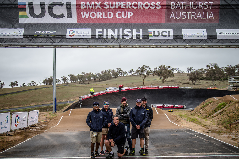 at Round 4 of the 2020 UCI BMX Supercross World Cup in Bathurst, Australia.