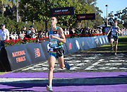 Dec 8, 2018; Balboa Park, CA, USA; Will Frankenfeld aka William Frankenfeld of Long Beach Poly (Calif.) places 14th in the boys race in 15:52.4 during the 40th Foot Locker cross country championships at Morley Field.