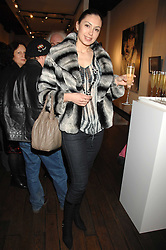 KATRINA PRUDNIKOVA at a private view of paintings by Lita Cabellut and Russian artist Yuri Kuper at Opera Gallery, 134 New Bond Street, London on 2nd April 2008.<br />
