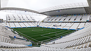 General view of the stadium ahead of the 2014 FIFA World Cup match at Arena Corinthians, Sao Paulo<br /> Picture by Andrew Tobin/Focus Images Ltd +44 7710 761829<br /> 19/06/2014