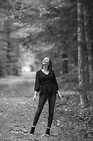 Kathryn G senior portrait session at Gunstock.  ©2018 Karen Bobotas Photographer