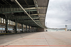 view of old Terminal buildings at Tempelhof Airport in Berlin Germany