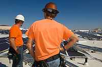 Electrical Engineers Working at Solar Power Plant