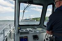 NH Dept of Safety Marine Patrol.  ©Karen Bobotas Photographer
