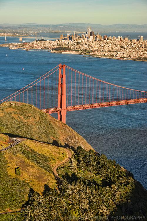 Marin Headlands, Golden Gate Bridge & Downtown SF