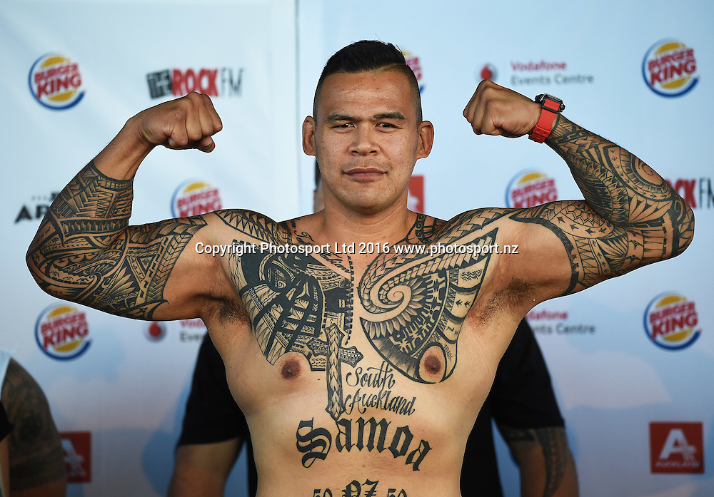 Brown Buttabean. Undercard to the Burger King Road to the Title by Duco Boxing. Friday 20 May 2016. Auckland, New Zealand. © Copyright Photo: Andrew Cornaga / www.photosport.nz