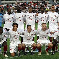 The United Soccer League Orlando City Lions team photo at the Florida Citrus Bowl on April 22, 2011 in Orlando, Florida.  (AP Photo/Alex Menendez)