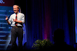 Democratic Presidential hopeful businessman Tom Steyer attends the Philadelphia Council AFL-CIO Workers' Presidential Summit, at the Pennsylvania Convention Center in Philadelphia, PA, on September 17, 2019.