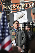 "Boston, MA 01/19/2013.Yang Li of Canton, MA, an immigrant from China who became a naturalized citizen 5 years ago, recounts the inability of Chinese citizens, who were unable to own firearms, to defend themselves from Communist rule.  Li said, ""To me a rifle is not about hunting or sport.  It guarantees to me that I have free will.  That I am a free man."".Alex Jones / www.alexjonesphoto.com"