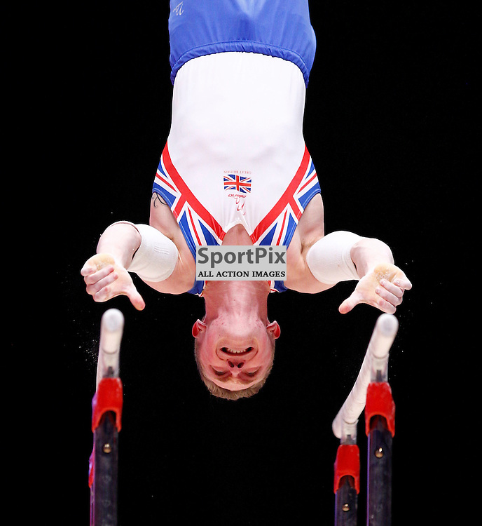 2015 Artistic Gymnastics World Championships being held in Glasgow from 23rd October to 1st November 2015....Great Britain's Nile Wilson performs in the Parallel Bars competition competition in the Men's Team Final...(c) STEPHEN LAWSON | SportPix.org.uk