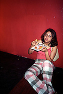 A late night snack at the nightclub Enigma, Mumbai, India