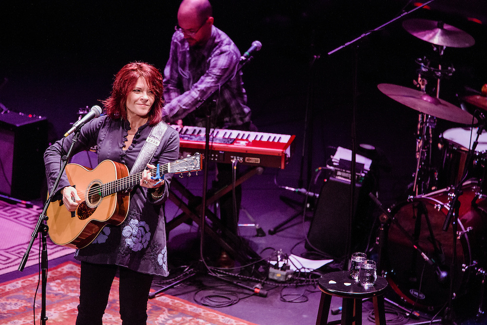 POUGHKEEPSIE, NY - OCTOBER 18: American singer-songwriter Rosanne Cash performs with her band at the Bardavon Opera House on October 18, 2014 in Poughkeepsie, New York. (PHOTO CREDIT: Eric M. Townsend)