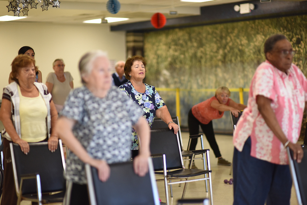 Senior Fitness Class at JASA Brighton Beach in Brooklyn, Friday, Sept. 15, 2017 Senior Fitness Class at JASA Brighton Beach in Brooklyn