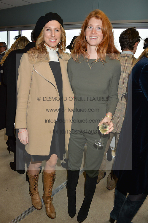 NEWBURY, ENGLAND 26TH NOVEMBER 2016: Left to right, Susanna Warren and Lara Hughes Young at Hennessy Gold Cup meeting Newbury racecourse Newbury England. 26th November 2016. Photo by Dominic O'Neill