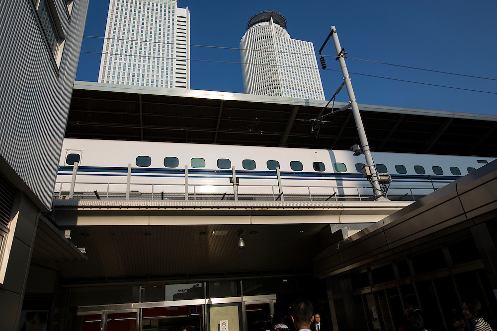 TOKYO, JAPAN - OCTOBER 24 : Bullet train is seen at Tokyo Station on October 24, 2015, Tokyo, Japan.<br />   <br /> Photo: Richard Atrero de Guzman