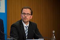DEU, Deutschland, Germany, Berlin, 04.06.2018: Tobias Zeiler, AfD-Pressereferent in Thüringen, Pressekonferenz der Partei Alternative für Deutschland (AfD) zur Vorstellung des Rentenkonzepts der AfD-Fraktion im Thüringer Landtag.