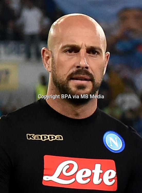 Italian League Serie A -2016-2017 / <br /> ( Ssc Napoli ) - <br /> Jose Manuel Reina Paez &quot; Pepe Reina &quot;