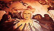 Murals depicting the Revolution at Government Palace. The martyrdom of Miguel Hidalgo.