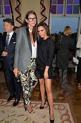 Left to right, JENNA LYONS J. Crew creative director and VICTORIA BECKHAM at a party hosed by the US Ambassador to the UK Matthew Barzun, his wife Brooke Barzun and editor of UK Vogue Alexandra Shulman in association with J Crew to celebrate London Fashion Week held at Winfield House, Regent's Park, London on 16th September 2014.