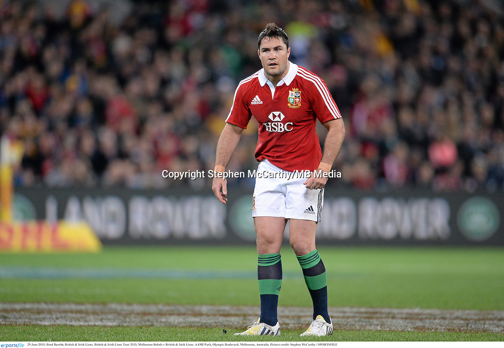 25 June 2013; Brad Barritt, British & Irish Lions. British & Irish Lions Tour 2013, Melbourne Rebels v British & Irish Lions. AAMI Park, Olympic Boulevard, Melbourne, Australia. Picture credit: Stephen McCarthy / SPORTSFILE