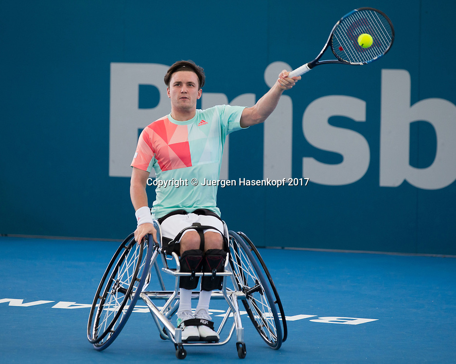 GORDON REID (GBR), Rollstuhl Tennis<br /> <br /> Tennis - Brisbane International  2017 - ITF -  Pat Rafter Arena - Brisbane - QLD - Australia  - 7 January 2017. <br /> &copy; Juergen Hasenkopf