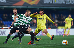 February 21, 2019 - Villarreal, Castellon, Spain - Pablo Fornals of Villarreal CF and Nemanja Gudelj of Sporting Lisboa during the UEFA Europa League Round of 32 Second Leg match between Villarreal and Sporting Lisboa at Estadio de La Ceramica on February 21, 2019 in Vila-real, Spain. (Credit Image: © AFP7 via ZUMA Wire)