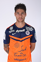 Paul LASNE - 23.07.2014 - Portraits officiels Montpellier - Ligue 1 2014/2015<br /> Photo : Icon Sport