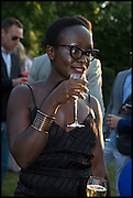 Lynette Yiadom-Boakeye, 2014 Serpentine's summer party sponsored by Brioni.with a pavilion designed this year by Chilean architect Smiljan Radic  Kensington Gdns. London. 1July 2014