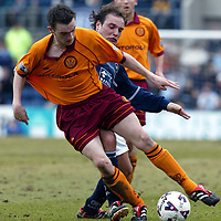 Dundee v Motherwell   16.03.02<br />Kiko Torres fouls James McFadden<br /><br />Pic by Graeme Hart<br />Copyright Perthshire Picture Agency<br />Tel: 01738 623350 / 07990 594431