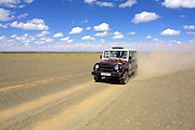 GOBI DESERT, MONGOLIA..08/23/2001.Gobi Gurvansaikhan National Park..Jeeps of Nomads Tours..(Photo by Heimo Aga)