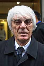 © Licensed to London News Pictures. 11/01/2018. London, UK. Bernie Ecclestone leaves the High Court at lunch during a hearing over his daughter Petra Ecclestone's legal battle with ex-husband James Stunt following their £5.5billion divorce. Photo credit: Rob Pinney/LNP