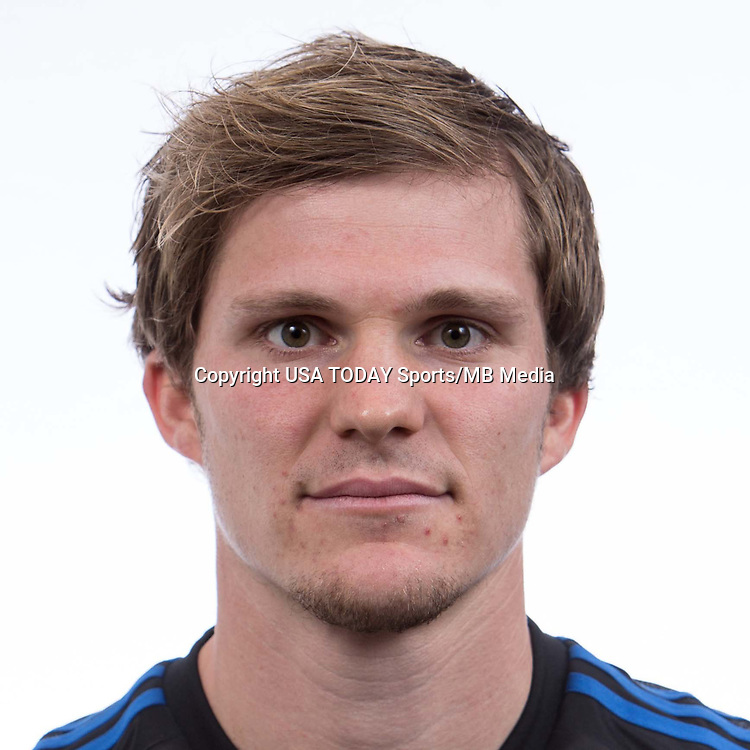 Feb 25, 2017; USA; San Jose Earthquakes player Florian Jungwirth poses for a photo. Mandatory Credit: USA TODAY Sports
