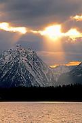 Sunset image of Jackson Lake at Grand Teton National Park, Wyoming, Pacific Northwest