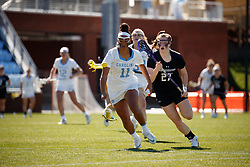 CHAPEL HILL, NC - MARCH 02: Kayla Wood #11 of the North Carolina Tar Heels during a game against the Northwestern Wildcats on March 02, 2019 at the UNC Lacrosse and Soccer Stadium in Chapel Hill, North Carolina. North Carolina won 11-21. (Photo by Peyton Williams/US Lacrosse)
