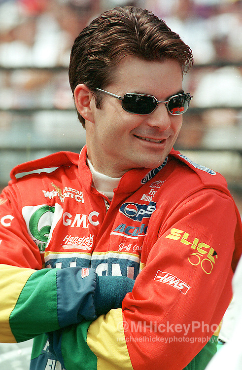 Jeff Gordon seen at the Indianapolis Motor Speedway before the Brickyard 400.