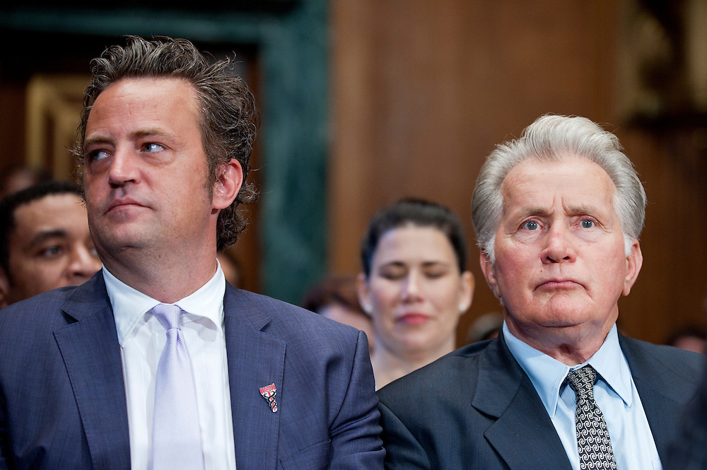 "Actors MATTHEW PERRY and MARTIN SHEEN during a Senate Judiciary Committee hearing ""Drug and Veterans Treatment Courts: Seeking Cost-Effective Solutions for Protecting Public Safety and Reducing Recidivism."""