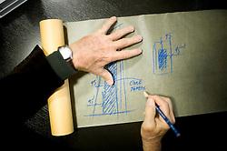 Fri Nov 18, 2011:  Portrait of Bill Pedersen, the architect of the Hudson Yards project, in his studios at Kohn Pedersen Fox. Credit: Rob Bennett for The Wall Street Journal   Slug: NYSPACES
