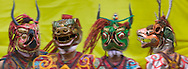 Mask dance performance at Thangbi Mani Festival, Bumthang, Bhutan