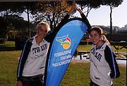 Roma, 28 novembre 2011<br /> Basket, presentazione nuovo allenatore nazionale italiana femminile <br /> nella foto: sabrina cinili, maddalena gaia gorini<br /> foto Ciamillo