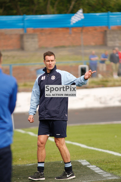 Cowdenbeath FC V Stranraer FC, Scottish League 1, 8th August 2015Cowdenbeath FC V Stranraer FC, Scottish League 1, 8th August 2015<br /> <br /> STRANRAER MANAGER BRIAN REID NOT HAPPY WITH SOME OF THE LINESMAN'S DECISIONS