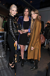 Left to right, PIXIE GELDOF, LILY RAGE and EDIE CAMPBELL at the Vogue Festival 2012 in association with Vertu held at the Royal Geographical Society, London on 20th April 2012.
