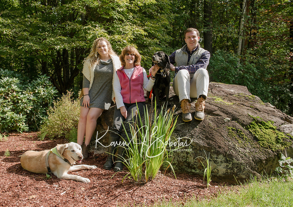 Celeste and Family portrait session.  ©2018 Karen Bobotas Photographer