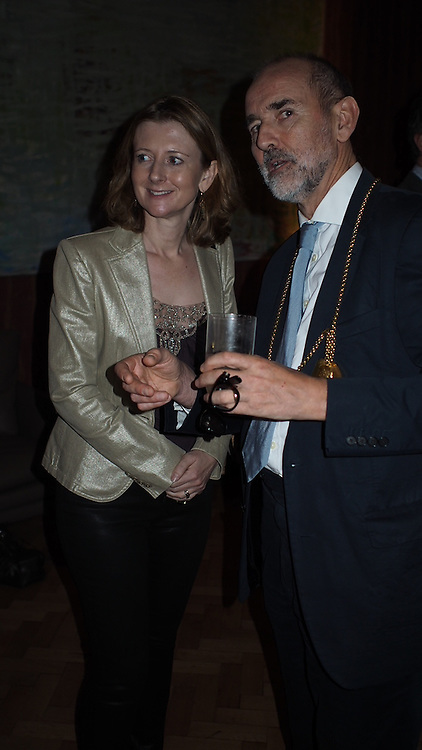 CHRISTOPHER LE BRUN PRESIDENT RA: FRANCES OSBORNE, Opening of the Keepers House, Royal Academy. London. 26 September 2013