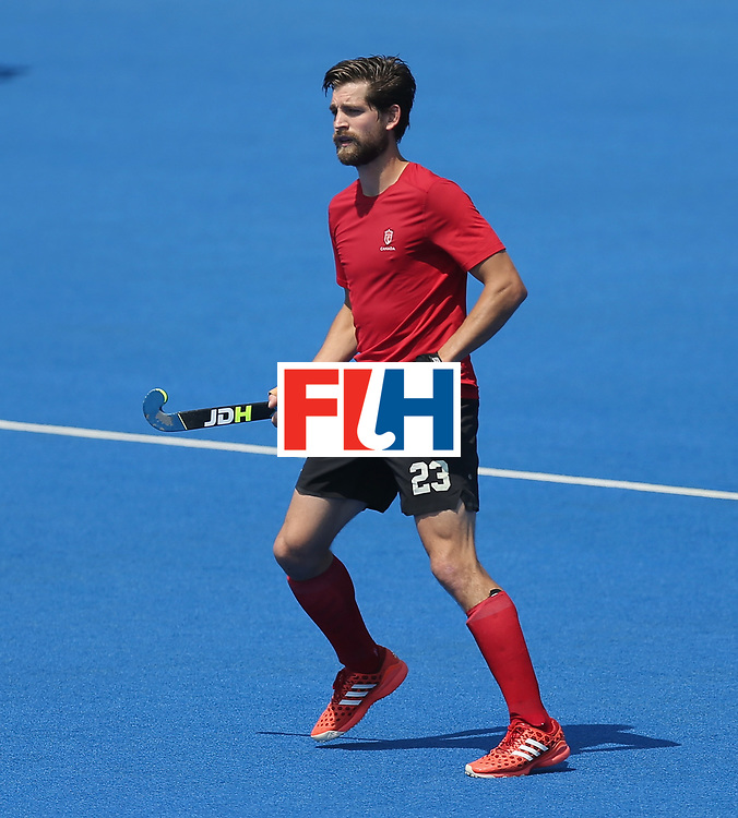 LONDON, ENGLAND - JUNE 20: Iain Smythe of Canada during the Pool B match between Scotland and Canada on day six of the Hero Hockey World League Semi-Final at Lee Valley Hockey and Tennis Centre on June 20, 2017 in London, England.  (Photo by Alex Morton/Getty Images)
